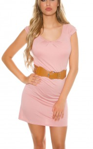 Forever Sexy - RB064-N Sexy Dress With Waist-Belt