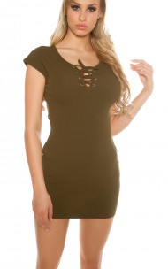 Forever Sexy - J123 Lacing Mini Dress