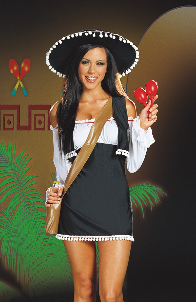 Happiness has sexy mexican girl outfit