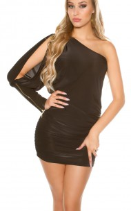 Forever Sexy - ISF1464 Assymetrical Mini Dress
