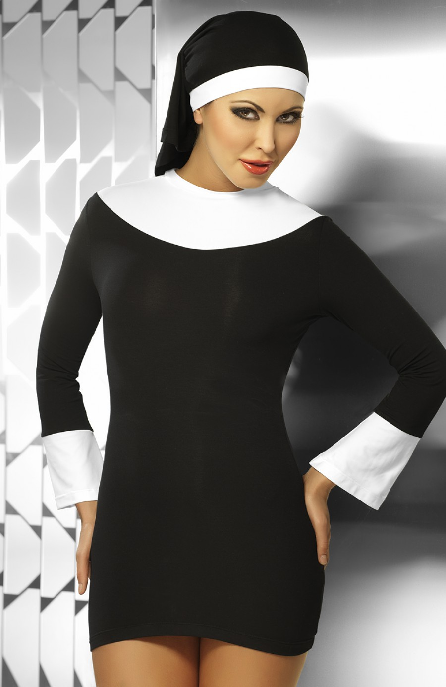 Sexy plus size nun costume solved