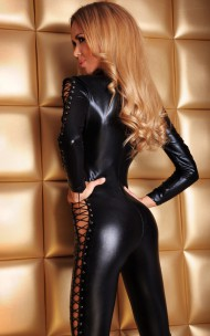 7heaven - Sheila Sexy Catsuit with Zipper & Lacing