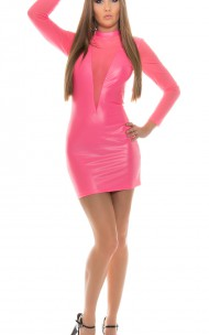 Forever Sexy - 18294 Wet Look Dress.