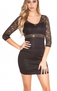 Forever Sexy - K81191-N Mini Dress With Lace