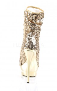 Pleaser - BLONDIE-R-1008 Sequined Open Toe Ankle Boot