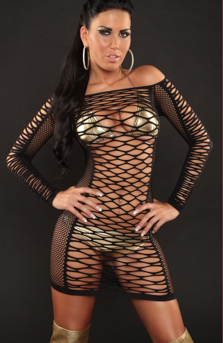 Forever Sexy Ntz25 Sexy Fishnet Dress Sassystar