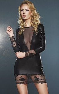 7heaven - Olivet Elegant Wet-look Dress