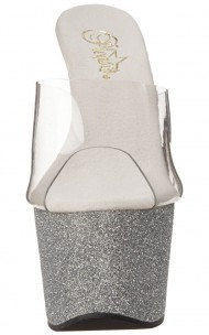 Pleaser - ADORE-701SDG PF Slide Featuring Glitter Covered Bottom