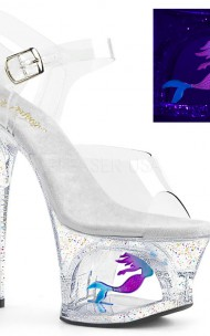 Pleaser - MOON-708MER Cut-Out PF Ankle Strap Sandal Mermaid
