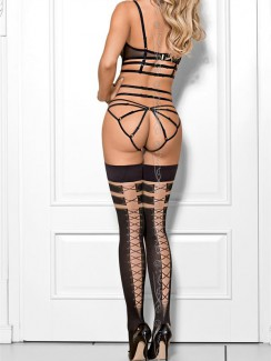 f6c5a25a1 Axami - V-7684 Churro Con Nutella Hold-Up Stockings